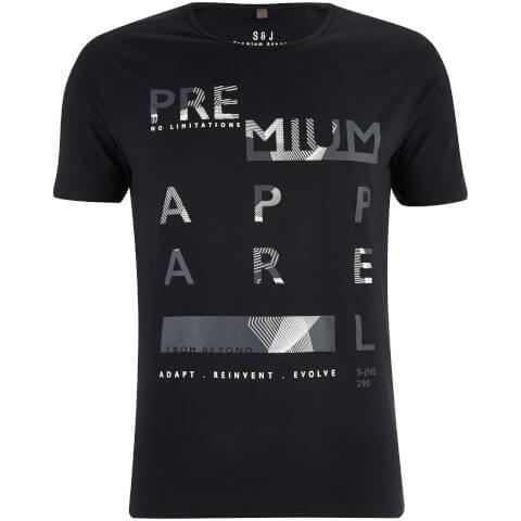 T-Shirt Homme Algebraic Smith & Jones -Noir