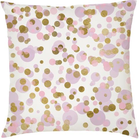 Coussin Confetti -Rose et Or