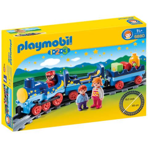Train étoilé avec passagers et rails -Playmobil (6880)