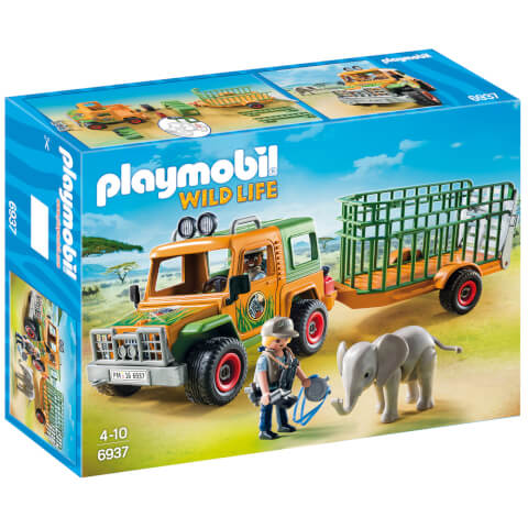 Playmobil Wildlife Ranger's Truck with Elephant (6937)