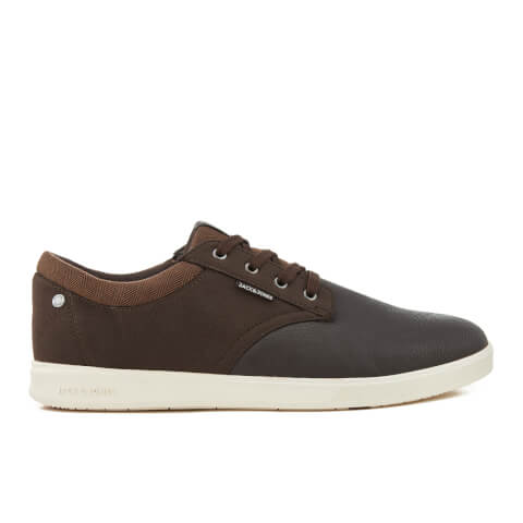 Jack & Jones Men's Gaston PU Mix Trainers - Java