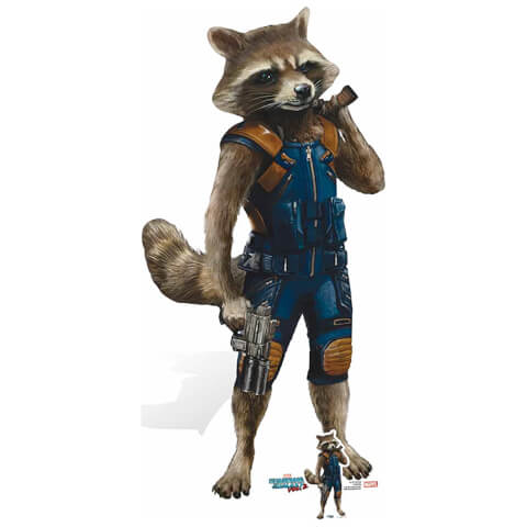 Silhouette Découpée en Carton - Rocket Raccoon, Les Gardiens de la Galaxie