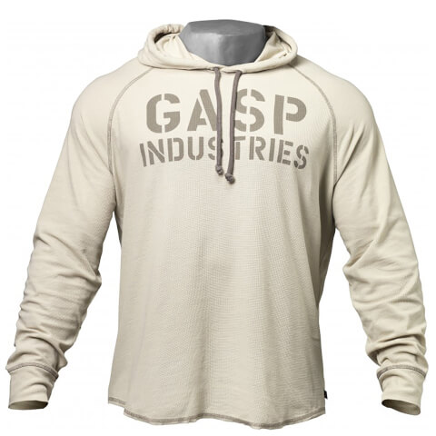 GASP Long Sleeve Thermal Hoody - Cement