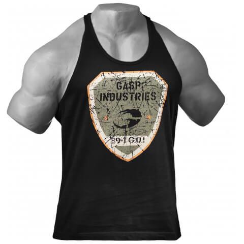 GASP Gym T-Back Vest - Black