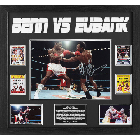 Nigel Benn and Chris Eubank Dual Signed 16 x 12 Photograph