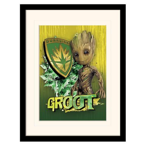 Affiche Encadrée Gardiens de la Galaxie Vol.2 Bouclier de Groot