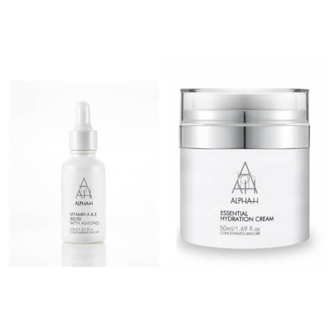Alpha-H Essential Hydration Cream 50ml + Vitamin A+E 30ml Duo