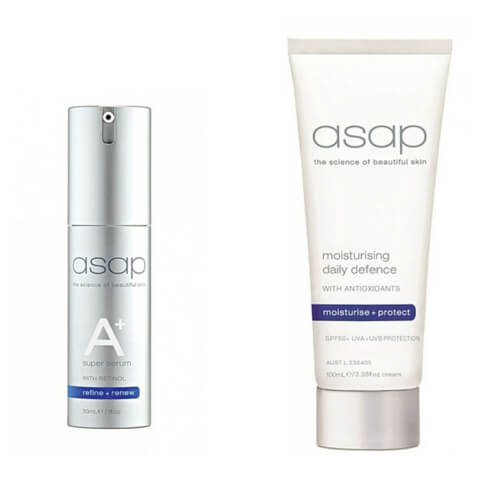 asap Moisturising Daily Defence SPF50+ 50ml + Super A+ Serum 30ml Duo