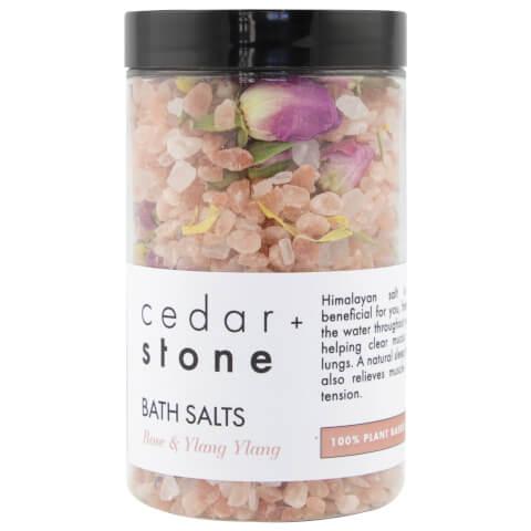 Cedar + Stone Rose + Ylang Ylang Bath Salts 300g