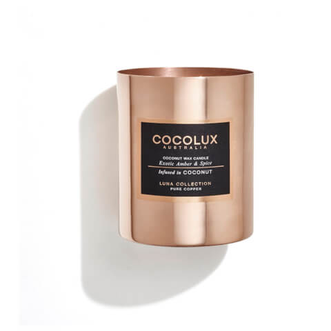 Cocolux Australia Copper Candle Luna Candle - Exotic Amber And Spice 350g