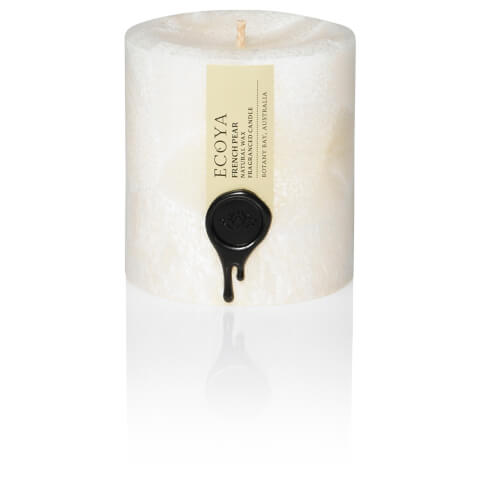 ECOYA French Pear Natural Small Pillar Candle