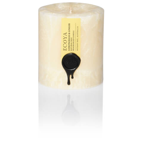 ECOYA Lemongrass And Ginger Natural Small Pillar Candle