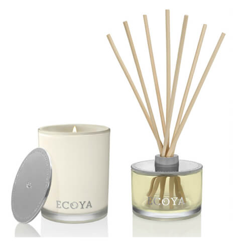 ECOYA Madison Jar Candle And Room Diffuser Set - Lotus Flower