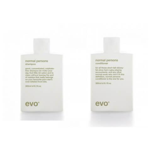 Evo Normal Persons Shampoo & Conditioner 300ml Duo