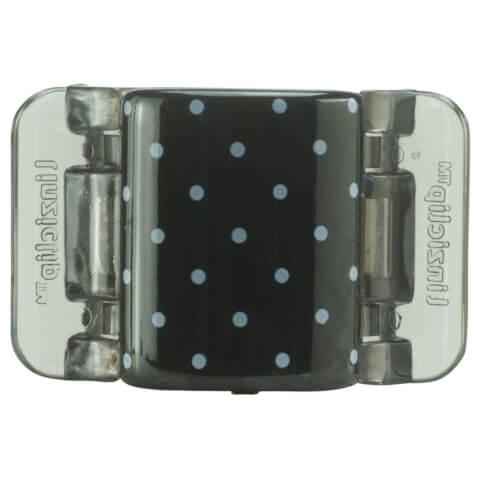 Linziclip Midi Claw Clip - Black And White Polka Dots