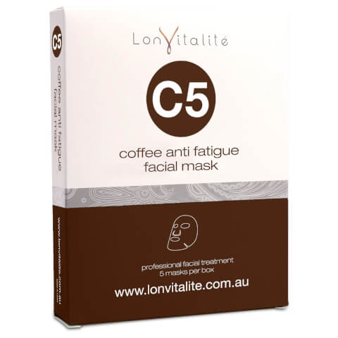 Lonvitalite C5 Coffee Anti-Fatigue Facial Mask 5Pk