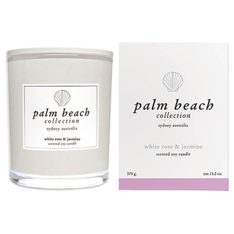 Palm Beach Collection Standard Candle White Rose And Jasmine 375g