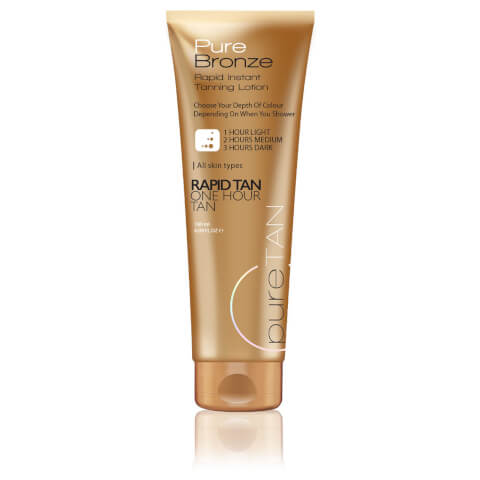 PureTan Pure Bronze One Hour Rapid Instant Tanning Lotion 180ml