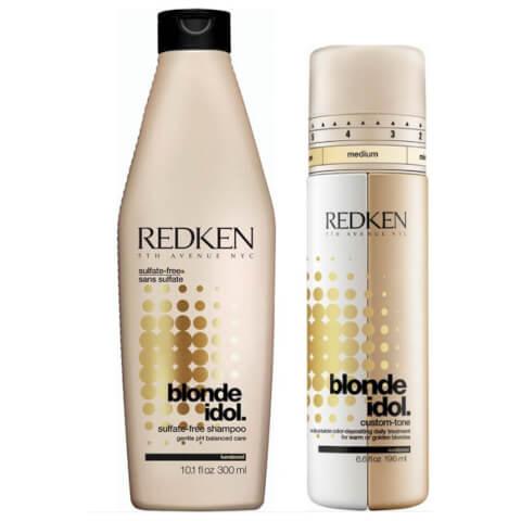 Redken Blonde Idol Shampoo And Custom Tone Gold Treatment Duo