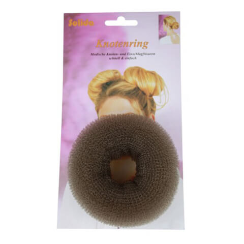 Solida Hair Donut Large Brown 10Cm