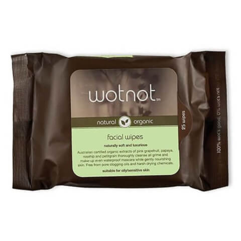 wotnot Facial Wipes Oily/Sensitive Skin x 25