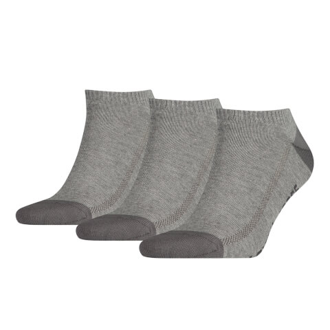 Levi's Men's 3 Pack Trainer Socks - Grey