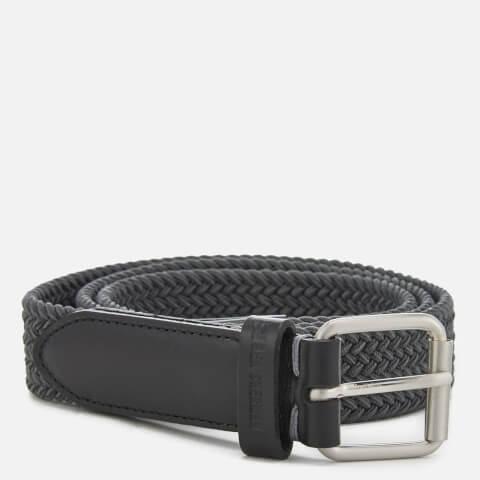 Ben Sherman Men's Barbican Plaited Belt - Grey