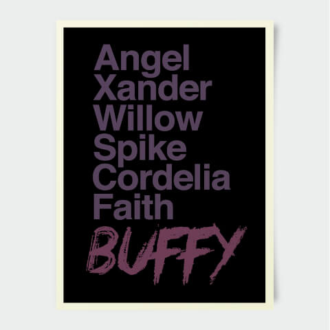Poster Buffy Contre les Vampires Personnages 30 x 40 cm