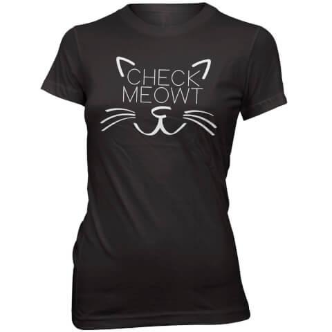 T-Shirt Check Meowt -Noir
