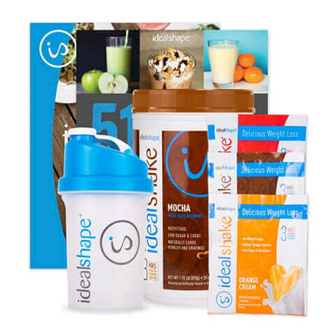 IdealShape 1 Tub IdealShake + 3 FREE IdealShake Meal Packs, Shaker Bottle and eBooks