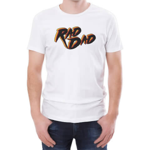 T-Shirt Homme Rad Dad -Blanc