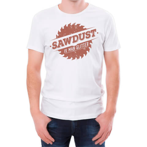 T-Shirt Homme Sawdust Is Man Glitter -Blanc