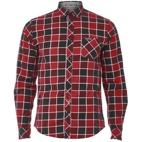 Tokyo Laundry Men's Cadillo Flannel Long Sleeve Shirt - Merlot
