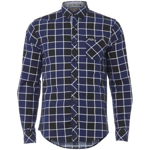 Tokyo Laundry Men's Cadillo Flannel Long Sleeve Shirt - Mid Blue
