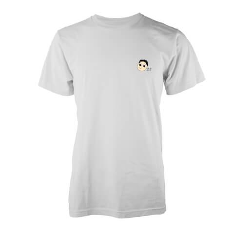 Casually Explained Mini Face Print White T-Shirt