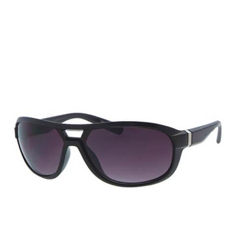 Men's Square Wrap Sunglasses - Black