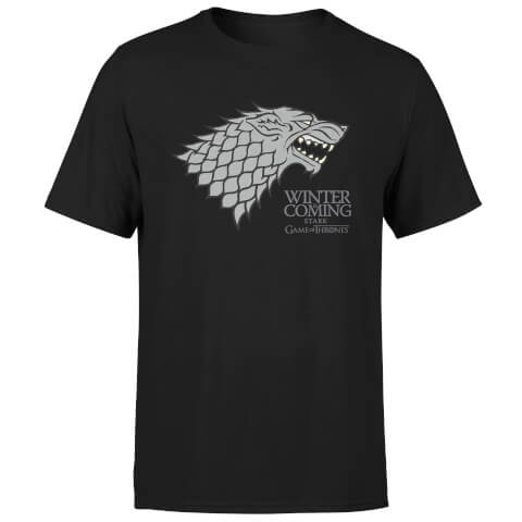 Game of Thrones Stark Winter Is Coming Men's Black T-Shirt