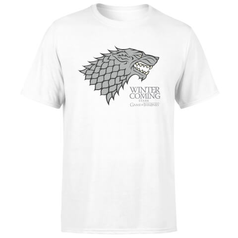 Game of Thrones Stark Winter Is Coming Men's White T-Shirt