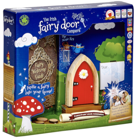 The Irish Fairy Door Company Arched Fairy Door - Red (Slim)