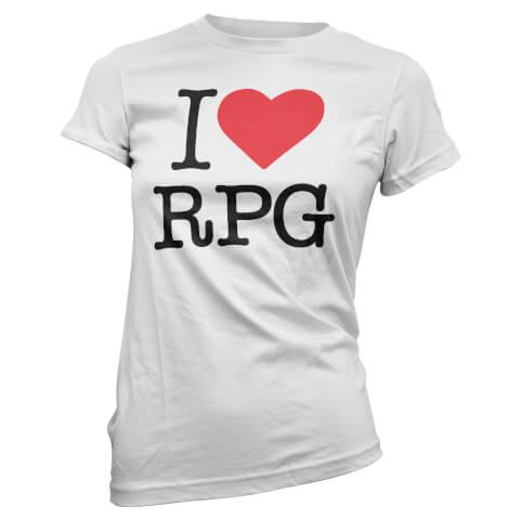 T-Shirt Femme I Love RPG - Blanc