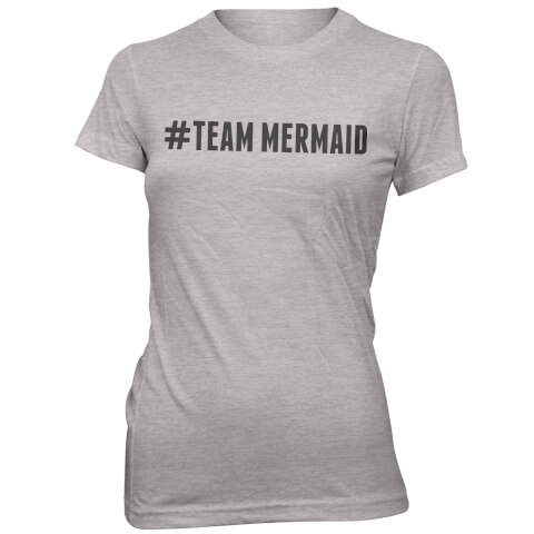Hashtag Team Mermaid Women's Grey T-Shirt