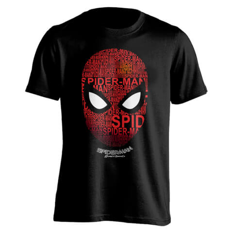 Marvel Spider-Man Men's Spider Head T-Shirt - Black
