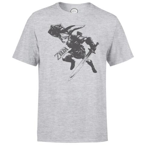 Nintendo Legend Of Zelda Link Men's Light Grey T-Shirt