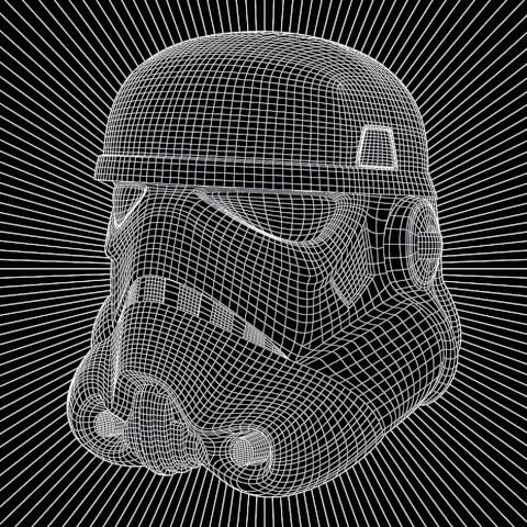 Star Wars Stormtrooper Wire 40 x 40cm Canvas Print