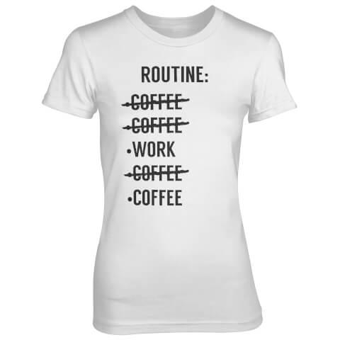 Routine Check List Women's White T-Shirt
