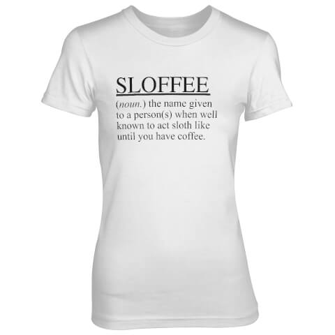 Sloffee Women's White T-Shirt