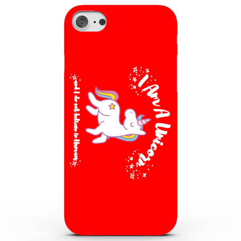 Coque iPhone & Android I Am a Unicorn and I Do Not Believe in Humans - 4 Couleurs