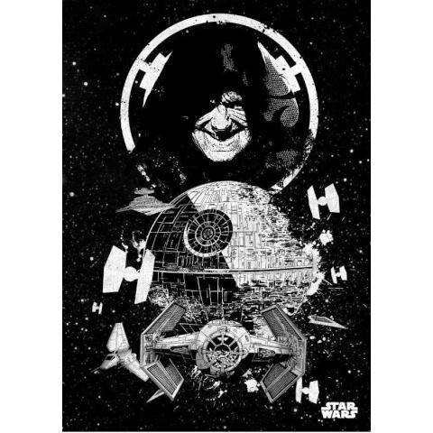 Star Wars Metal Poster - Star Wars Pilots Death Star (68 x 48cm)
