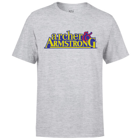 Valiant Comics Classic Archer and Armstrong Logo T-Shirt - Grey
