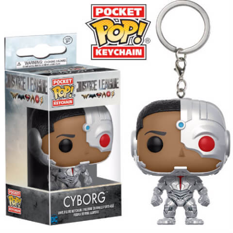 Justice League Cyborg Pop! Keychain